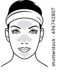 cleansing pore strips. vector | Shutterstock .eps vector #696742807