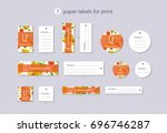 vector paper clothing labels... | Shutterstock .eps vector #696746287