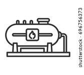 big gas tank | Shutterstock .eps vector #696756373