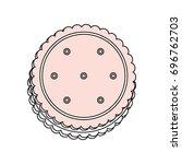 sweet cookie dessert | Shutterstock .eps vector #696762703