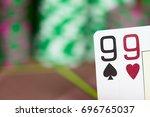 casino texas hold'em poker game....   Shutterstock . vector #696765037
