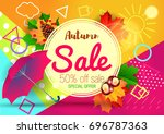 sale. autumn. | Shutterstock .eps vector #696787363