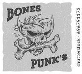 bones punks vector illustration....   Shutterstock .eps vector #696791173