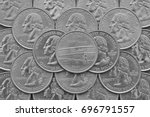 north carolina state and coins... | Shutterstock . vector #696791557