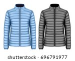 women's insulated down jackets  ... | Shutterstock .eps vector #696791977
