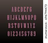 linear alphabet | Shutterstock .eps vector #696794473