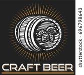 craft beer logo  vector... | Shutterstock .eps vector #696798643