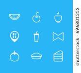vector illustration of 9 food... | Shutterstock .eps vector #696801253
