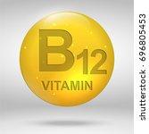 vitamin b12. cyanocobalamin... | Shutterstock .eps vector #696805453