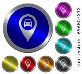 vehicle gps map location icons... | Shutterstock .eps vector #696807313
