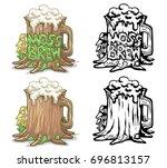 moss brew | Shutterstock .eps vector #696813157