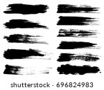 collection of artistic grungy...   Shutterstock . vector #696824983