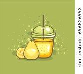 smoothies illustration. fresh...   Shutterstock .eps vector #696826993