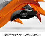 vector colorful wave lines in... | Shutterstock .eps vector #696833923