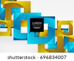 squares geometric shapes in... | Shutterstock .eps vector #696834007