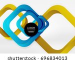 squares geometric shapes in... | Shutterstock .eps vector #696834013