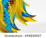 vector colorful wave lines in... | Shutterstock .eps vector #696834037