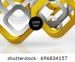 squares geometric shapes in... | Shutterstock .eps vector #696834157