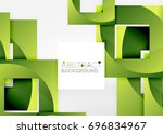 squares geometric object in... | Shutterstock .eps vector #696834967