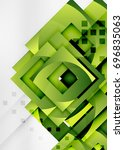 squares geometric object in... | Shutterstock .eps vector #696835063