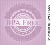 bpa free pink emblem. vintage. | Shutterstock .eps vector #696844303
