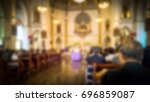 blurry scene of christ church... | Shutterstock . vector #696859087
