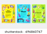 music instruments  vector... | Shutterstock .eps vector #696860767