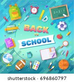 back to school information... | Shutterstock .eps vector #696860797