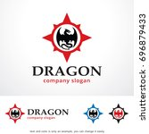 dragon logo template design... | Shutterstock .eps vector #696879433