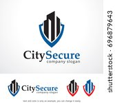 city secure logo template... | Shutterstock .eps vector #696879643
