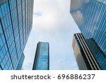 a group of modern skyscrapers...   Shutterstock . vector #696886237