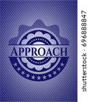 approach badge with denim... | Shutterstock .eps vector #696888847