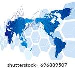 world map vector | Shutterstock .eps vector #696889507
