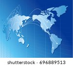 world map vector | Shutterstock .eps vector #696889513