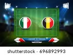 football or soccer playing... | Shutterstock .eps vector #696892993