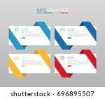 modern info graphic template... | Shutterstock .eps vector #696895507