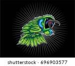 green of leaf bird | Shutterstock .eps vector #696903577