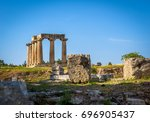 temple of apollo at corinth | Shutterstock . vector #696905437