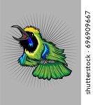 green leaf bird | Shutterstock .eps vector #696909667