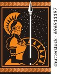 palas athena minerva greek... | Shutterstock .eps vector #696911197