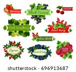berry and fruit label set....   Shutterstock .eps vector #696913687