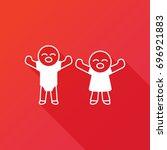boy and girl vector icon.... | Shutterstock .eps vector #696921883