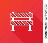 traffic barrier vector icon.... | Shutterstock .eps vector #696924313