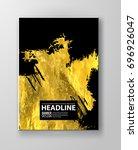 vector black and gold design... | Shutterstock .eps vector #696926047