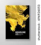 vector black and gold design... | Shutterstock .eps vector #696926053