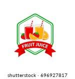fruit juice logo design   Shutterstock .eps vector #696927817