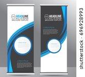 roll up business brochure flyer ... | Shutterstock .eps vector #696928993