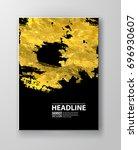 vector black and gold design... | Shutterstock .eps vector #696930607