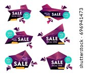 collection of sale banners ... | Shutterstock .eps vector #696941473