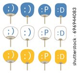 fan of emoji set   vector... | Shutterstock .eps vector #696944083